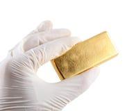 фото золотого ингота реальное Стоковые Изображения