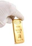 фото золотого ингота реальное Стоковая Фотография