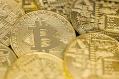 Фото золотых bitcoins Стоковое Изображение RF