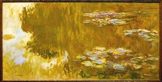 Фото известного первоначально ` картины ` пруда лилии воды Клодом Monet стоковое фото rf