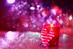 Фото искусства Печенья в форме сердца и свечи Стоковое Изображение