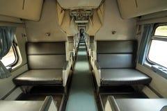 Фото кабины пассажирского поезда стоковое изображение rf