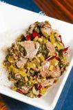Китайская ед-замаринованная vegetable говядина Стоковая Фотография