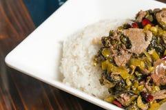 Китайская ед-замаринованная vegetable говядина Стоковое фото RF