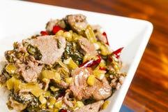 Китайская ед-замаринованная vegetable говядина Стоковые Изображения