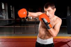 Фото конца-вверх боксера на кольце Стоковое Фото