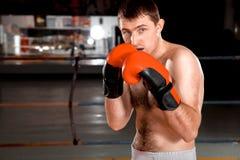 Фото конца-вверх боксера на кольце Стоковые Изображения