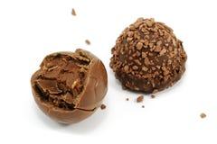 фото конца шоколада конфеты вверх Стоковое Изображение RF