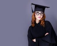 Фото красивого молодого ученика в черном костюме на чудесном стоковая фотография rf