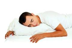 Фото красивый спать человека Стоковое Фото