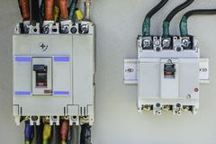 Фото крупного плана электрического выключателя Стоковое Фото