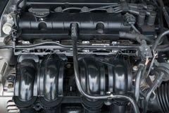 Фото крупного плана блока мотора Стоковые Изображения RF