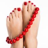 Фото крупного плана женских ног. Стоковые Изображения
