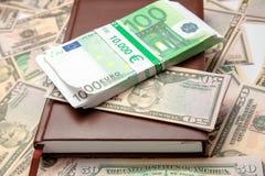 Фото крупного плана много денег Стоковые Фотографии RF