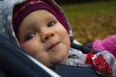 Фото крупного плана стороны младенца Красивое изображение, предпосылка, wallpape Стоковые Фотографии RF