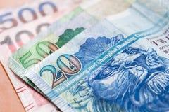 Фото макроса долларов Гонконга, банкноты Стоковые Фото