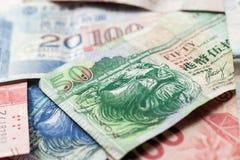 Фото макроса долларов Гонконга Стоковое фото RF