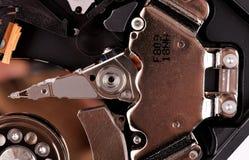 Фото макроса - дисковод жесткого диска Большие детали Стоковое Изображение RF