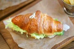 Фото макроса очень вкусного большого сандвича рыб Стоковое Изображение RF