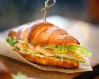 Фото макроса очень вкусного большого сандвича рыб Стоковое Фото