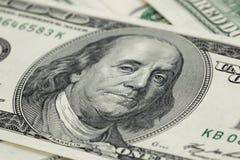 100 фото макроса долларовых банкнот Стоковое Изображение