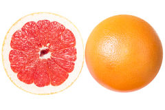 Фото макроса розового грейпфрута Стоковые Фото