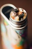 Фото макроса электронной сигареты Стоковое фото RF