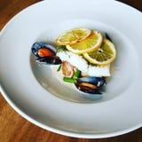 Фото макроса ART еды спагетти Стоковое Изображение