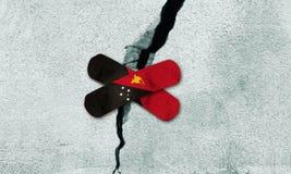 Фото манипулировало идею для отстраивать Папуаую-Нов Гвинею после землетрясения стоковая фотография rf