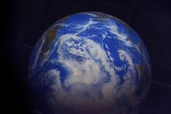 Фото модели земли с предпосылкой космоса стоковое фото rf