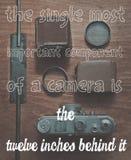 Фото мотивировки камеры Стоковая Фотография