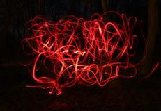 Фото нерезкости красных ламп велосипеда Стоковые Изображения RF