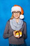 Фото Нового Года милой девушки Стоковая Фотография