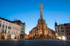 Фото ночи столбца святой троицы Стоковые Фотографии RF