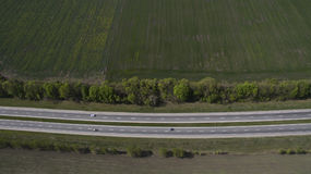 Фото дороги от трутня Стоковое Изображение RF
