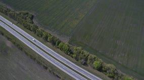 Фото дороги от трутня Стоковые Изображения