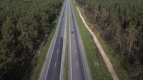 Фото дороги от трутня Стоковое Изображение