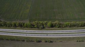 Фото дороги от трутня стоковая фотография