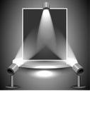 Фото освещено вверх лампами Стоковая Фотография RF