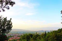 Фото от леса к ландшафту Petrich под углом красивому Стоковые Фото