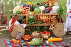 Фото официальный праздник в США в память первых колонистов Массачусетса - тяжелый урожай - запас отображает стоковое изображение