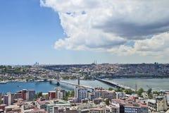 Фото панорамы Стамбула Стоковая Фотография RF