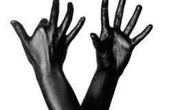 Фото покрашенной руки Стоковая Фотография RF