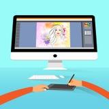 Фото портрета фотографа график-дизайнера бесплатная иллюстрация