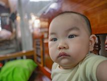 Фото портрета Cutie и красивого азиатского мальчика стоковые фотографии rf