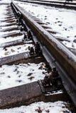 Фото предпосылки железнодорожных путей Стоковое фото RF