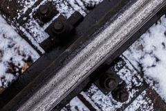Фото предпосылки железнодорожных путей Стоковая Фотография RF