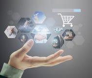 Фото предварительного просмотра цифровое, компьютер новой технологии Стоковые Изображения