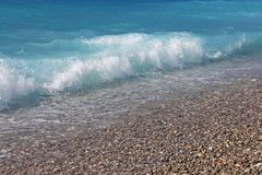 Фото принятое в Францию Французская ривьера, волна Стоковое фото RF