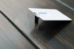 Фото пустых карточек флэш-карты usb Стоковое фото RF